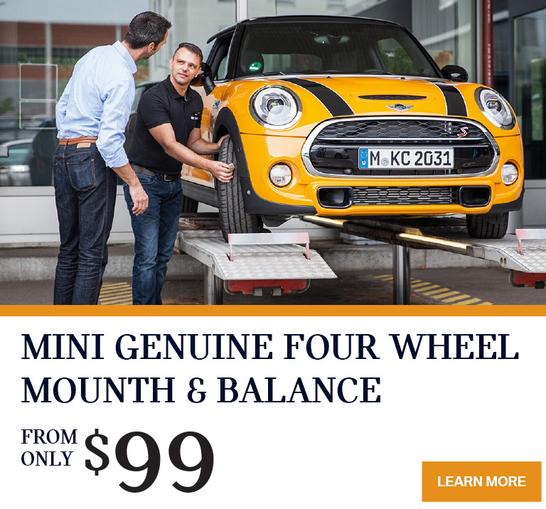 MINI Nanaimo's 4 Wheel Mount & Balance Special Offer