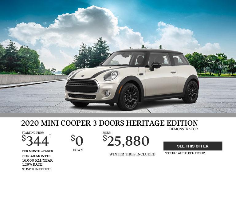MINI COOPER 3 PORTE HERITAGE EDITION 2020