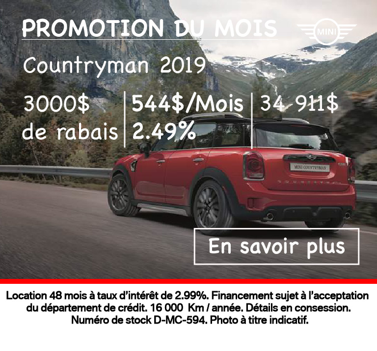 Promotion du mois août 2019