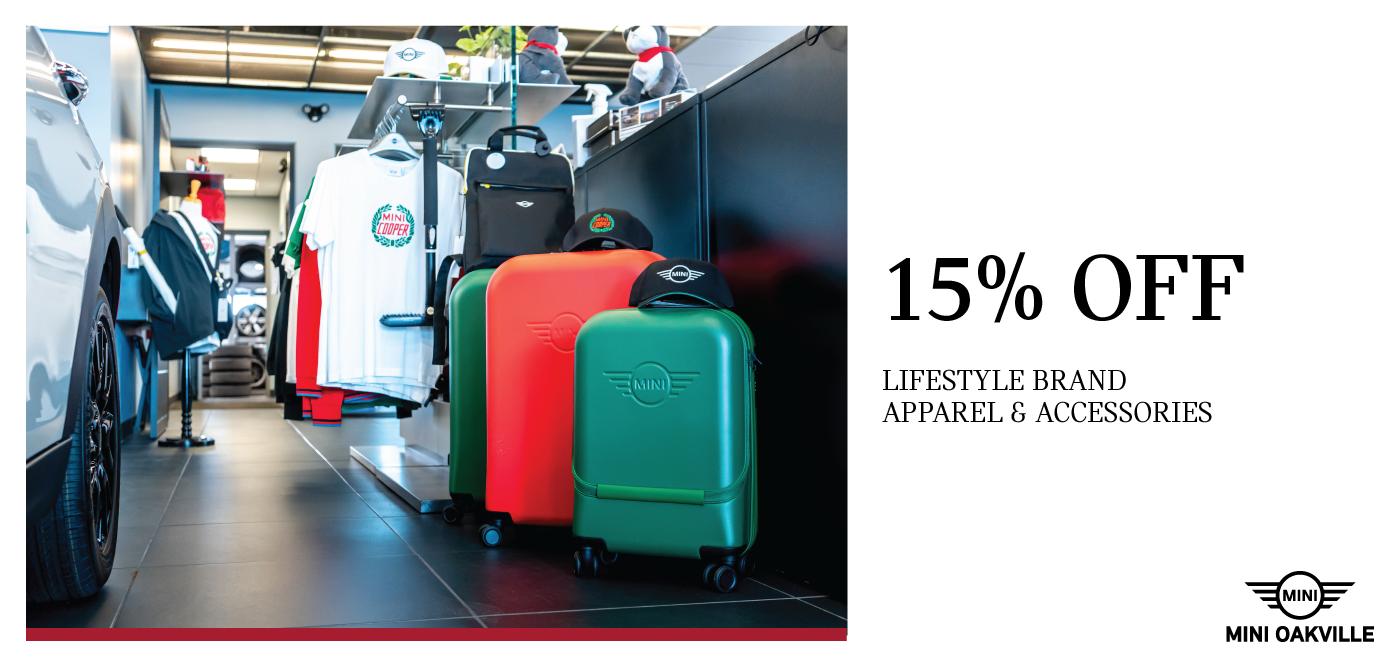 15% off lifestyle brand