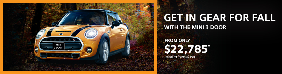 GET IN GEAR FOR FALL WITH THE MINI 3 DOOR