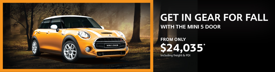 GET IN GEAR FOR FALL WITH THE MINI 5 DOOR