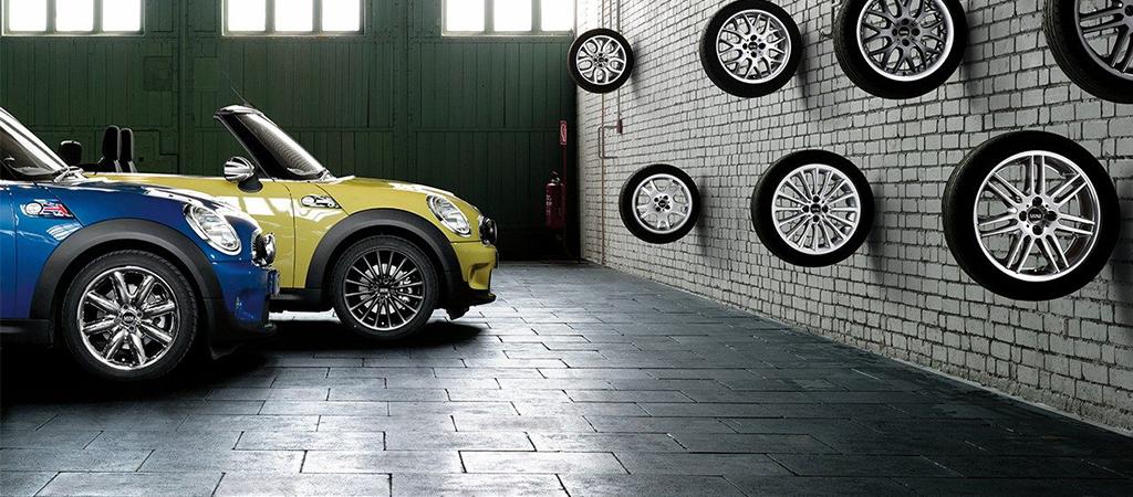 Seasonal tire storage.