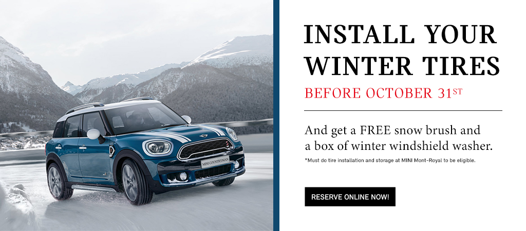 Install Your Winter Tires