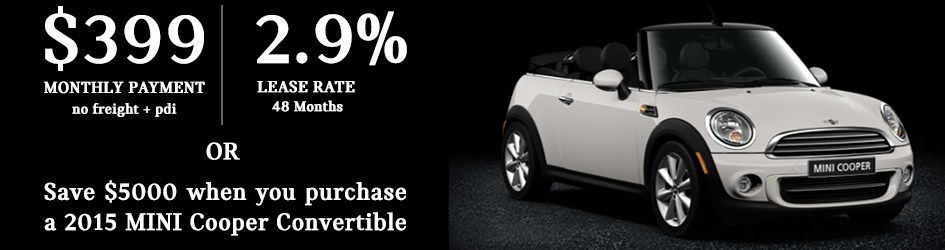 Exclusive Offer on 2015 MINI Cooper Convertibles!